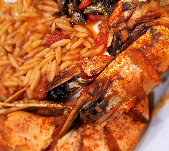 Prawns and Orzo